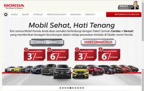 Situs Honda Indonesia Kini Dengan Tampilan Baru