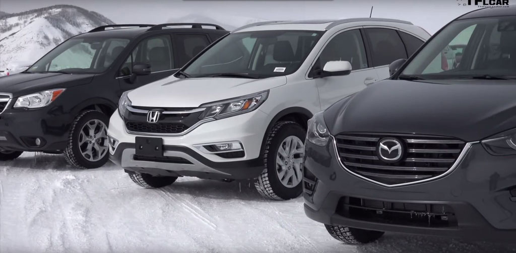 Video balapan es mazda cx 5 vs honda cr v vs subaru for Honda crv vs subaru forester